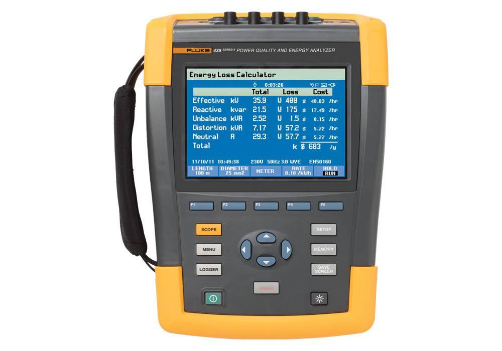 Fluke 435 Series II Power Quality and Energy Analyser