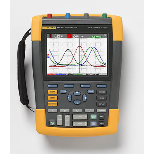 Fluke 190-204, 4 Channel 200 MHz ScopeMeter